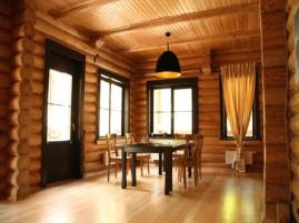 Покрытие деревянного дома внутри